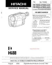 Buy Hitachi VM3150A Service Manual by download Mauritron #264711