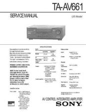Buy Sony TA-AV661 Service Information by download Mauritron #238175