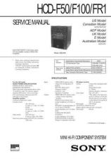Buy Sony HCD-F50 Service Manual by download Mauritron #240991
