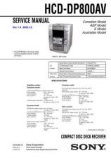Buy Sony HCD-DP800AV.. Service Manual by download Mauritron #240961