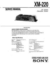 Buy Sony XM-220 Service Manual by download Mauritron #233472