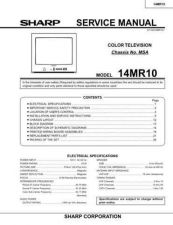 Buy Sharp 14MR10 (1) Service Manual by download Mauritron #207359