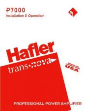 Buy HAFLER P7000 Manual by download Mauritron #230017
