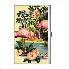 Buy Flamingos Flamingo Retro Art Business Credit Card Holder