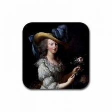 Buy Queen Marie Antoinette Art Set Of 4 Square Rubber Coasters