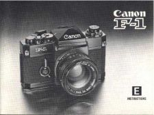 Buy CANON F1NINSTRUCTIONS FD CAMERA INSTRUCTIONS by download #118441