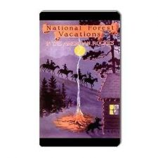 Buy American Rockies Vacations Retro Travel Art Vinyl Magnet