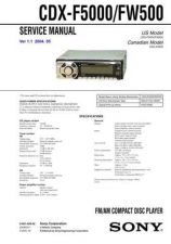 Buy Sony CDX-F50M Service Manual by download Mauritron #238569
