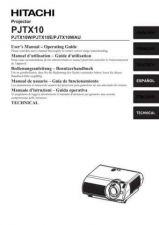 Buy Hitachi PJTX10W_FI Service Manual by download Mauritron #263807