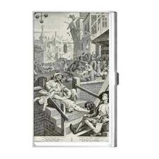 Buy Gin Lane Hogarth Art Detail Business Credit Card Holder Case