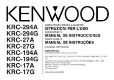Buy Kenwood krc-218 Operating Guide by download Mauritron #222516