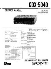 Buy Sony CDX-5040 Service Manual by download Mauritron #237470