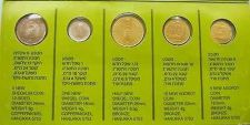 Buy Israel Hanukka 5 Coins Set 1992 - Limited Edition