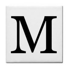 Buy Letter M Alphabet Georgia Font Decorative Ceramic Tile