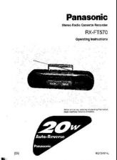 Buy Panasonic RXFT570 Operating Instruction Book by download Mauritron #236376