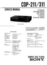 Buy Sony CDP-211-311 Service Manual by download Mauritron #237209
