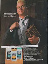 Buy 1988 right guard deodorant Brian Bosworth seahawks nfl football magazine ad