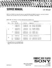 Buy Sony CDP-190-390 Service Manual by download Mauritron #237204