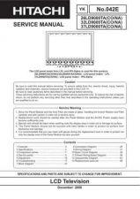 Buy Hitachi SM 263237LD9000TA_3 Service Manual by download Mauritron #264173
