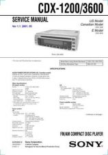 Buy Sony CDX-12003600 Manual by download Mauritron #228233