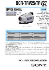 Buy Sony DCR-TRV7E Service Manual by download Mauritron #239908