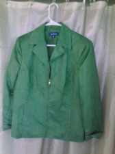 Buy Womens Green Evan Picone Zip Front Lightweight Jacket Size 14