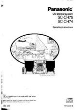 Buy Panasonic SCCH75 Operating Instruction Book by download Mauritron #236439