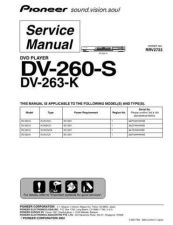 Buy Pioneer DV-263-K Service Manual by download Mauritron #234013