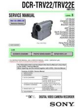 Buy Sony DCR-TRV33TRV33E RMT-814 Technical Information by download Mauritron #23552