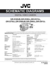 Buy JVC GR-D90SCH Service Manual Schematic Circuit. by download Mauritron #270621