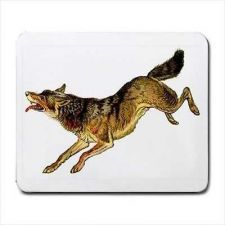 Buy Wild Wolf Art Computer Mouse Pad