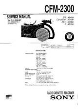 Buy Sony cfm-2500 Service Manual by download Mauritron #238888