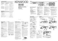 Buy Kenwood KAC-5202 Operating Guide by download Mauritron #221303