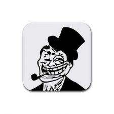 Buy Troll Dad Internet Meme Rage Face Set Of 4 Square Rubber Coasters