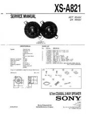 Buy Sony XS-A821 Service Manual. by download Mauritron #246337