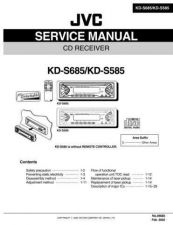 Buy JVC KD-S685-KD-S585 Service Manual Schematic Circuit. by download Mauritron #271528