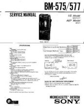 Buy Sony BM-575-577 Service Manual by download Mauritron #236881