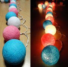 Buy SWEET COOL TONE 20 COTTON BALL STRING LIGHTS PARTY WEDDING HOME GARDEN DÉCOR