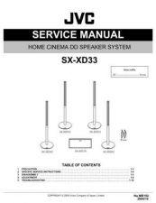 Buy JVC SX-XD33 Service Manual Schematic Circuit. by download Mauritron #272470
