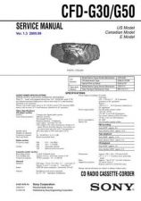 Buy Sony CFD-G30-G50 Service Manual by download Mauritron #238805