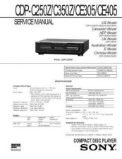 Buy Sony CDP-C245-345-741 Service Manual by download Mauritron #237262