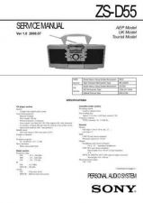 Buy Sony ZS-D1 service manual Technical Manual. by download Mauritron #244000