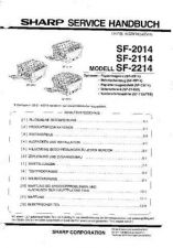 Buy Sharp SF2020-2120 CD GB-JP Service Manual by download Mauritron #210457