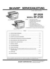 Buy Sharp SF2022-2027 PG GB-JP Service Manual by download Mauritron #209628
