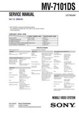 Buy Sony MV-700HR Service Manual. by download Mauritron #242966