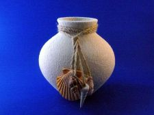 Buy 6 inch pot belly coastal vase