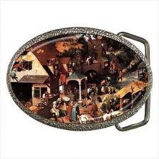 Buy Dutch Proverbs Bruegel Art Unisex Belt Buckle