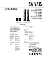 Buy Sony SA-VA15 Service Information by download Mauritron #238017