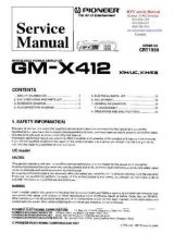 Buy PIONEER GMX412 CRT1983 Technical Information by download #119257
