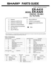 Buy Sharp ER-A420 Parts Guide by download Mauritron #232921